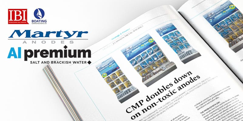 Martyr Aluminum Anodes highlighted in the Feb/March issue of International Boating Industry